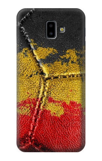 Printed Belgium Flag Vintage Football 2018 Samsung Galaxy J6 Plus (2018) Case