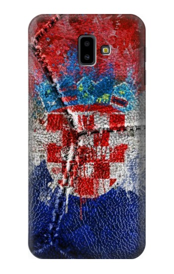 Printed Croatia Flag Vintage Football 2018 Samsung Galaxy J6 Plus (2018) Case
