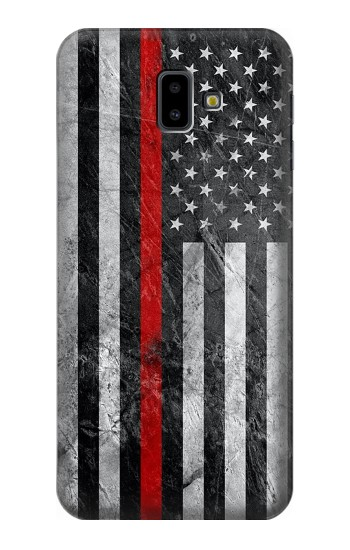 Printed Firefighter Thin Red Line American Flag Samsung Galaxy J6 Plus (2018) Case