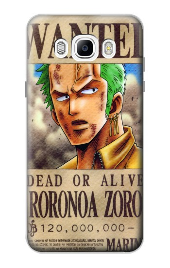 Printed One Piece Roronoa Zoro Wanted Poster Samsung Galaxy J7 (2016) Case