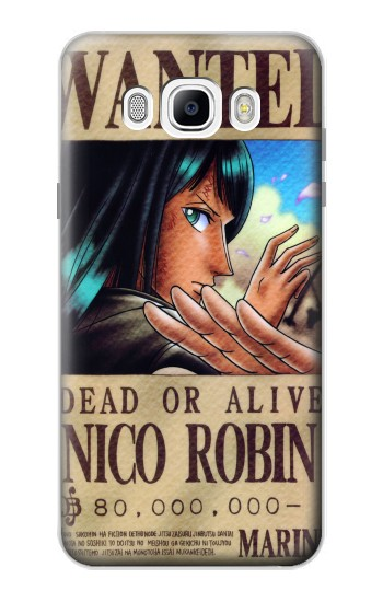 Printed One Piece Nico Robin Wanted Poster Samsung Galaxy J7 (2016) Case