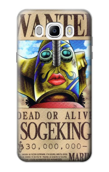 Printed One Piece SOGEKING Wanted Poster Samsung Galaxy J7 (2016) Case