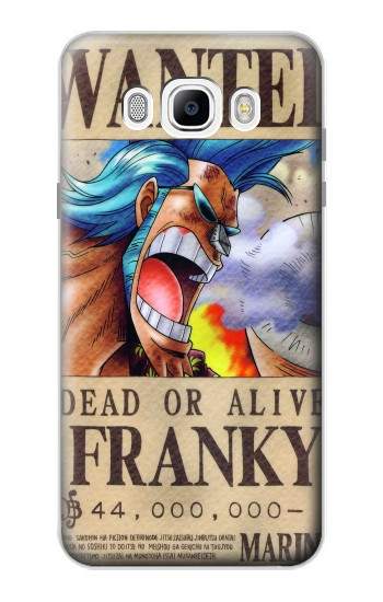 Printed One Piece FRANKY Wanted Poster Samsung Galaxy J7 (2016) Case