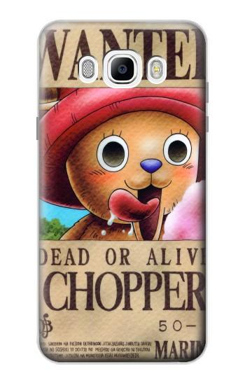 Printed One Piece CHOPPER Wanted Poster Samsung Galaxy J7 (2016) Case