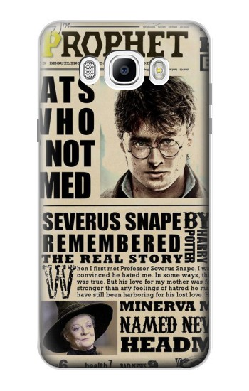 Printed Harry Potter Daily Prophet Samsung Galaxy J7 (2016) Case