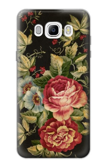 Printed Vintage Antique Roses Samsung Galaxy J7 (2016) Case