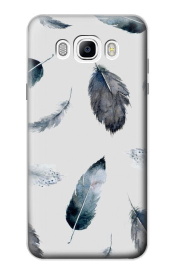 Printed Feather Paint Pattern Samsung Galaxy J7 (2016) Case