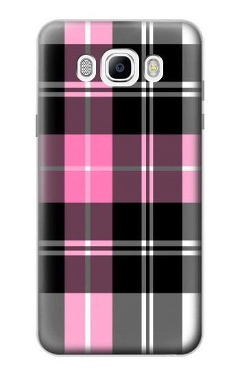 Printed Pink Plaid Pattern Samsung Galaxy J7 (2016) Case