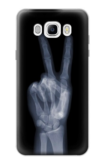 Printed X-ray Peace Finger Samsung Galaxy J7 (2016) Case