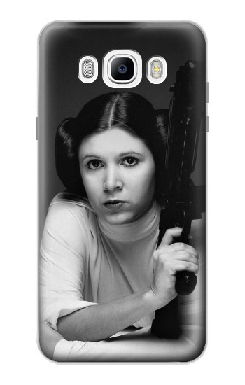 Printed Princess Leia Carrie Fisher Samsung Galaxy J7 (2016) Case