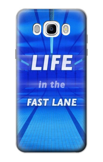 Printed Life in the Fast Lane Swimming Pool Samsung Galaxy J7 (2016) Case