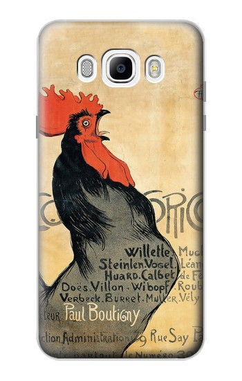 Printed Cocorico Rooster Vintage French Poster Samsung Galaxy J7 (2016) Case