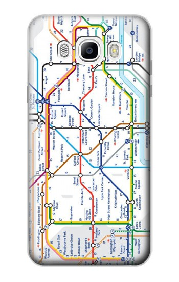 Printed London Underground Map Samsung Galaxy J7 (2016) Case