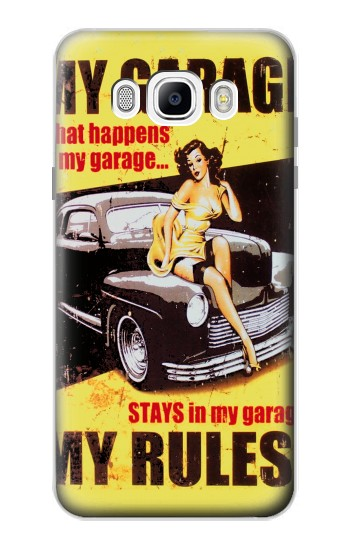 Printed My Garage Pinup Girl Samsung Galaxy J7 (2016) Case