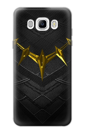 Printed Black Panther Inspired Costume Gold Necklace Samsung Galaxy J7 (2016) Case