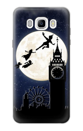 Printed Peter Pan Fly Fullmoon Night Samsung Galaxy J7 (2016) Case
