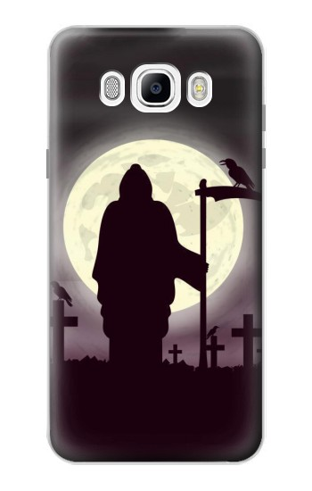 Printed Night Moon Cemetery Samsung Galaxy J7 (2016) Case