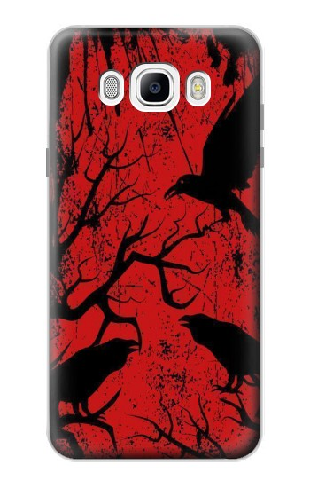 Printed Crow Black Tree Samsung Galaxy J7 (2016) Case