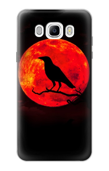 Printed Crow Red Moon Samsung Galaxy J7 (2016) Case