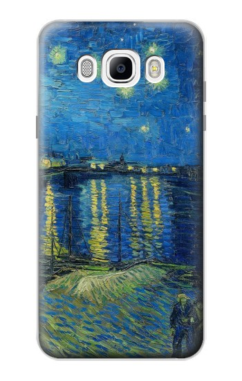 Printed Van Gogh Starry Night Over Rhone Samsung Galaxy J7 (2016) Case