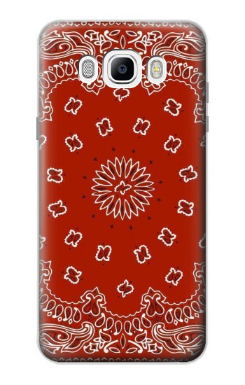 Printed Bandana Red Pattern Samsung Galaxy J7 (2016) Case