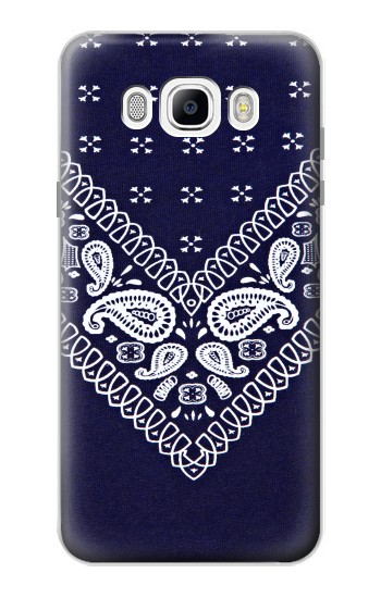Printed Navy Blue Bandana Pattern Samsung Galaxy J7 (2016) Case