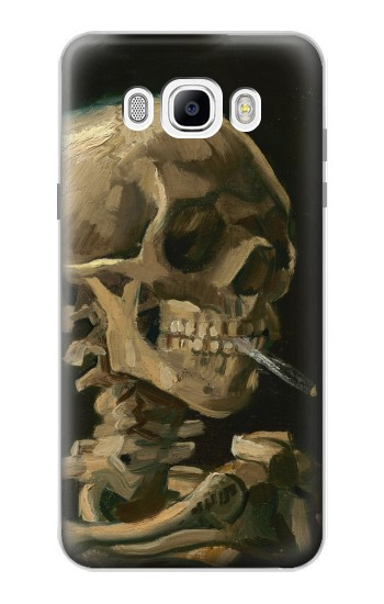 Printed Vincent Van Gogh Head Skeleton Cigarette Samsung Galaxy J7 (2016) Case
