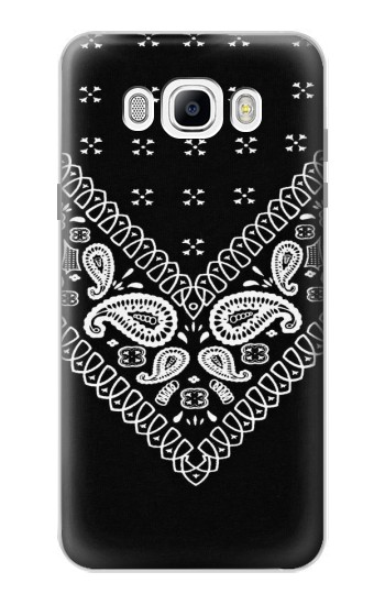 Printed Bandana Black Pattern Samsung Galaxy J7 (2016) Case
