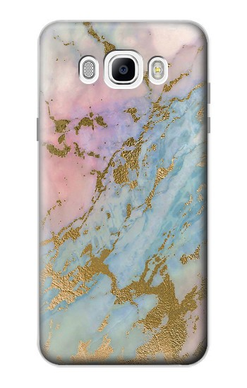 Printed Rose Gold Blue Pastel Marble Graphic Printed Samsung Galaxy J7 (2016) Case
