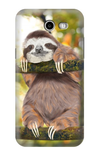 Printed Cute Baby Sloth Paint Asus Zenfone 2 Laser ZE500KL Case