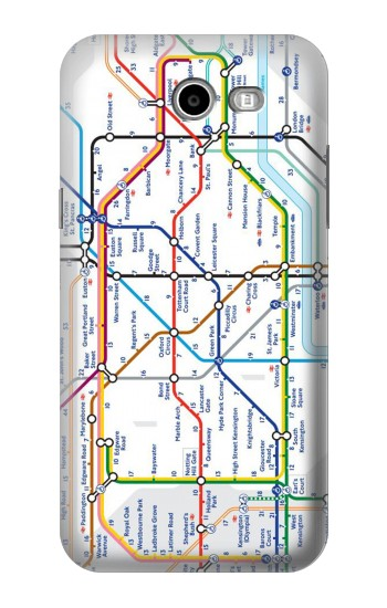 Printed London Underground Map Asus Zenfone 2 Laser ZE500KL Case