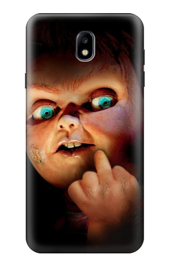 Printed Chucky Middle Finger Samsung Galaxy J7 (2018) Case