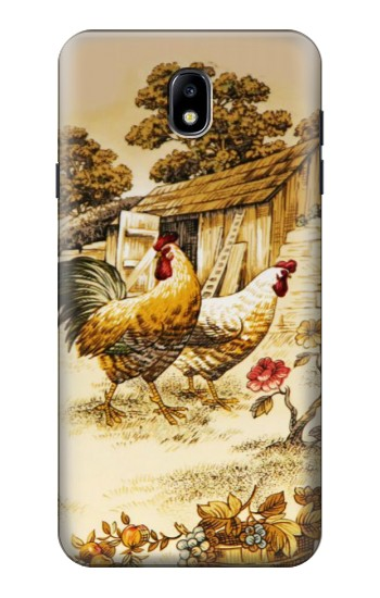 Printed French Country Chicken Samsung Galaxy J7 (2018) Case