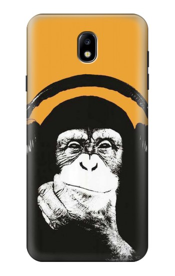 Printed Funny Monkey with Headphone Pop Music Samsung Galaxy J7 (2018) Case