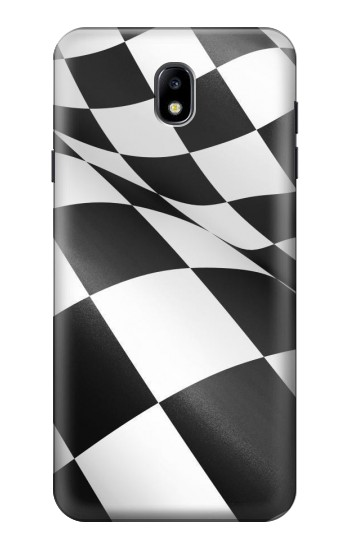 Printed Checkered Winner Flag Samsung Galaxy J7 (2018) Case