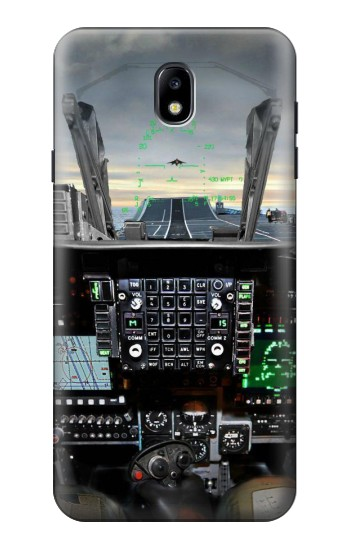 Printed Fighter Jet Aircraft Cockpit Samsung Galaxy J7 (2018) Case
