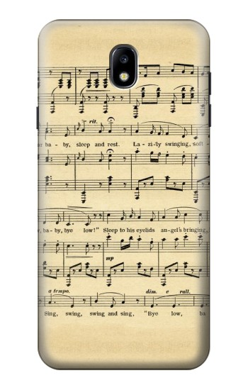 Printed Vintage Music Sheet Samsung Galaxy J7 (2018) Case