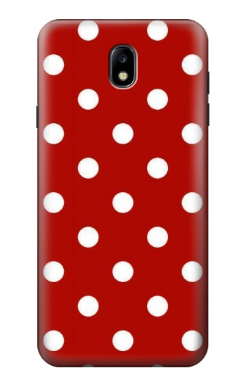 Printed Red Polka Dots Samsung Galaxy J7 (2018) Case