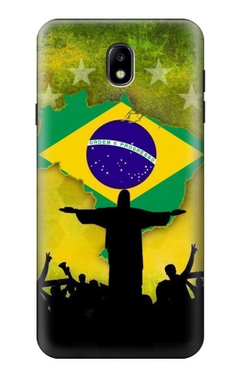 Printed Brazil Football Flag Samsung Galaxy J7 (2018) Case