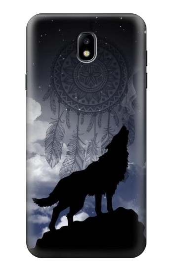 Printed Dream Catcher Wolf Howling Samsung Galaxy J7 (2018) Case