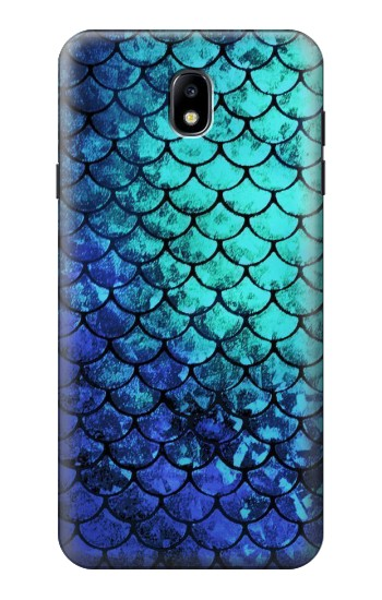 Printed Green Mermaid Fish Scale Samsung Galaxy J7 (2018) Case