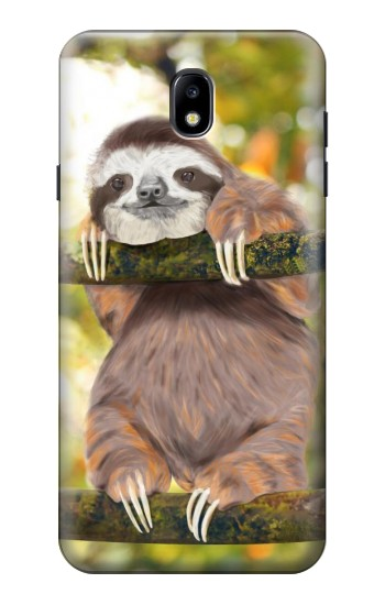 Printed Cute Baby Sloth Paint Samsung Galaxy J7 (2018) Case