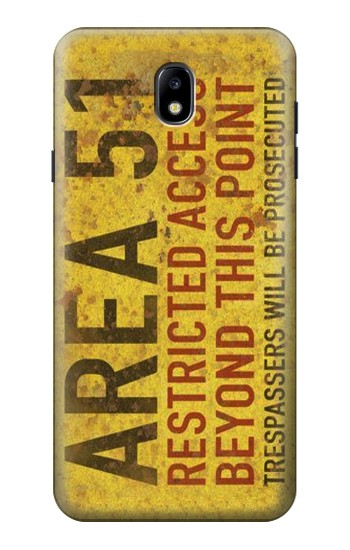 Printed Area 51 Restricted Access Warning Sign Samsung Galaxy J7 (2018) Case