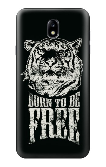 Printed Born to Be Free Tiger Samsung Galaxy J7 (2018) Case