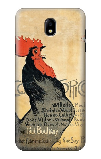 Printed Cocorico Rooster Vintage French Poster Samsung Galaxy J7 (2018) Case
