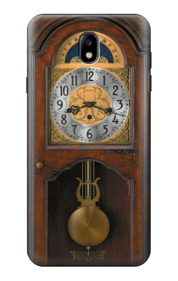 Printed Grandfather Clock Antique Wall Clock Samsung Galaxy J7 (2018) Case