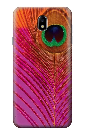 Printed Pink Peacock Feather Samsung Galaxy J7 (2018) Case
