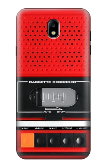 Printed Red Cassette Recorder Graphic Samsung Galaxy J7 (2018) Case