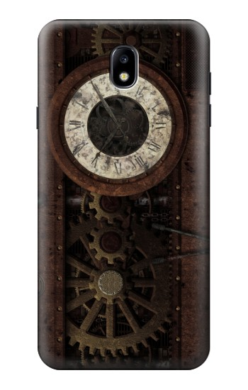 Printed Steampunk Clock Gears Samsung Galaxy J7 (2018) Case