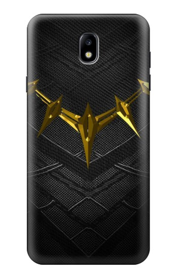 Printed Black Panther Inspired Costume Gold Necklace Samsung Galaxy J7 (2018) Case